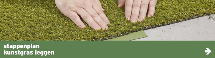 Tuin - stappenplan - kunstgras leggen