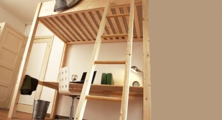Hoogslaper met bureau gamma for Bureau 2 meter