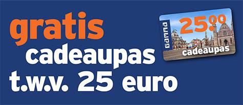 gratis cadeaupas twv 25 euro bij besteding van 250 euro