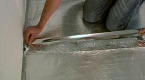 Ondervloer leggen folie