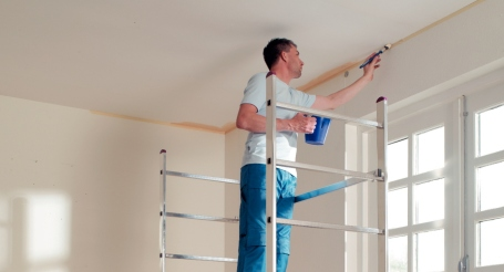 plafond stucwerk schilderen gamma
