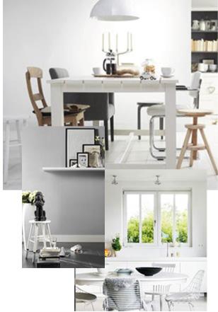 Witte en lichte tinten zijn de basis voor elk interieur