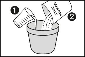 Stap 5 - Stucmortel aanmaken