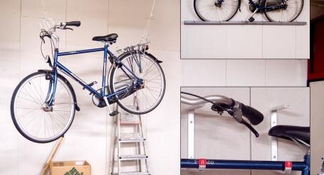 Drie manieren om uw fiets op te bergen gamma for Opbergsysteem schuur