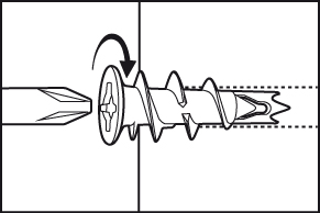 Massieve gipsmuur plug - stap 2