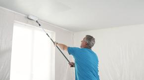 Eindig met de rolbeweging in de lengterichting van het plafond.