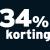 34% korting