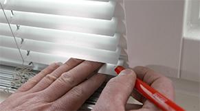 Jaloezie aluminium idd - gewenste lengte aftekenen