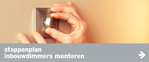 Dimmers - navi banner stappenplan inbouwdimmers monteren