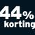 44% korting