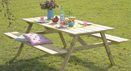 Picknicktafel maken gamma