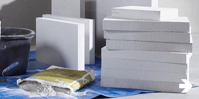 Beeld - Muur & Plafond - Gasbetonblokken en accessoires