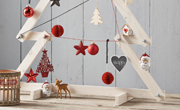Kerstboom met vleugelmoeren