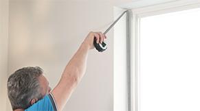 Raamdecoratie opmeten - Hoogte meten in de dag