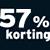 57% korting
