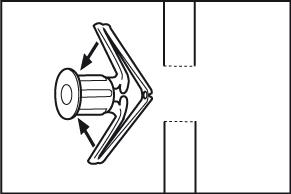 Gewone holle wandplug - stap 1