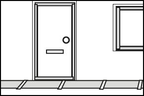 Stap 1 - Bestrating en kozijnen afplakken