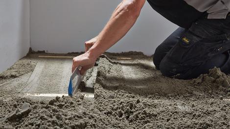 Stap - Vloeren - Zand cementdekvloer maken