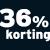 36% korting