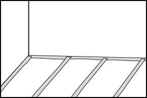 Stap 1- Vloer afplakken