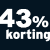 43% korting