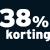 38% korting