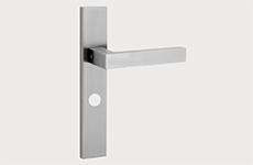 deurbeslag - Deurklink + schild inclusief toiletsluiting