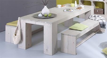 Steigerhouten tafel maken gamma for Zelf meubels maken van hout