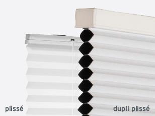 Plisségordijn en dupliplisségordijn