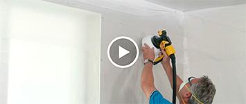 Beeld - gipsplaten - plafond spuiten