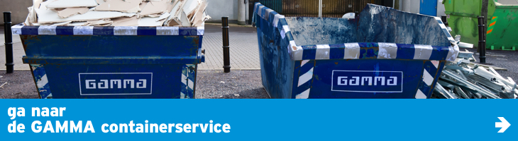Ga naar de GAMMA afvalcontainerservice in samenwerking met SUEZ