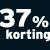 37% korting