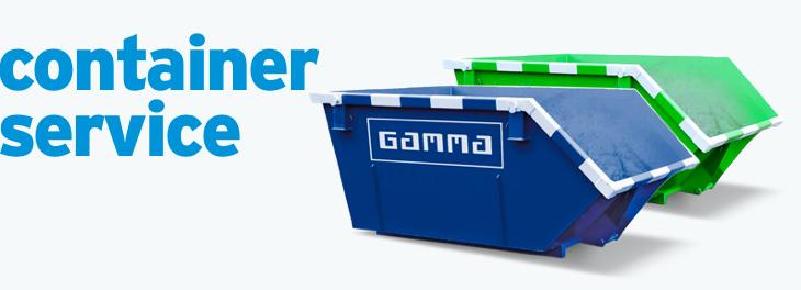 GAMMA afvalcontainerservice in samenwerking met SUEZ