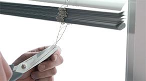 Jaloezie aluminium idd - touwladder doorknippen