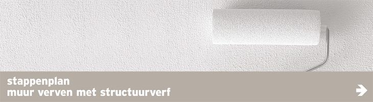 Verf - banner - muur met structuurverf
