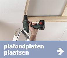 wand- en plafondbekleding - plafondplaten plaatsen