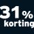 31% korting
