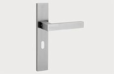 deurbeslag - Deurklink + schild inclusief sleutelgat