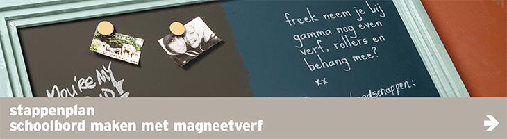 Verf - navi banner - schoolbord met magneetverf stappenplan