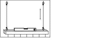 Lamp waterpas hangen