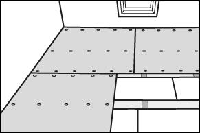Stap 5 - Vloer isoleren - Underlayment op maat maken en vastschroeven