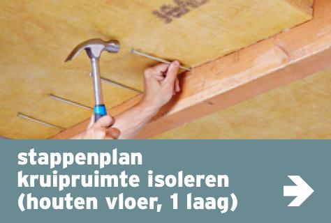 Kruipruimte isoleren houten vloer 1 laag