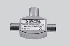 2_TV aansluiting - Coax 2-weg splitter