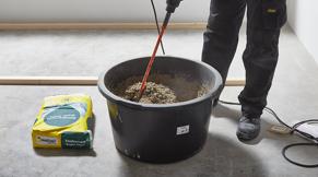 Zandcementmortel aanmaken
