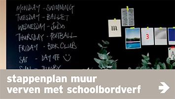 Verf - navi banner - muur met schoolbordverf