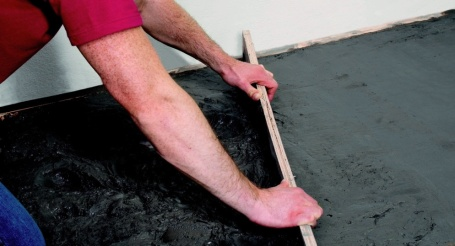 Gewapende betonnen vloer