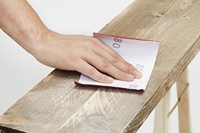 Stap 2 steigerhout oud maken beits