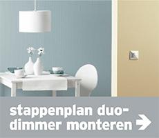Dimmers - navi banner stappenplan duo-dimmer monteren