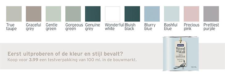 Krijtverf - kleuren pallet