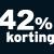 42% korting